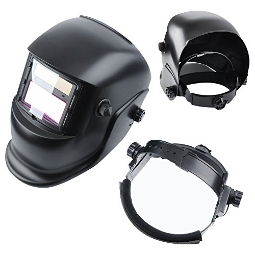Kukoo ADF Series Solar Powered Auto Darkening Welding Helmet mask with Adjustable Shade Range 9-13 - EN and ANSI Z87.Certified