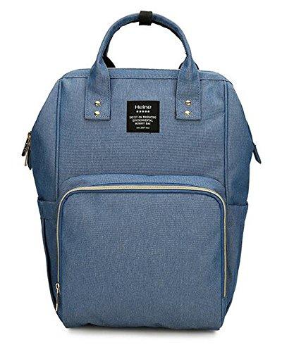 MQ bebé pañal bolsa mochila con cambiador unisex para mamá y papá morado morado azul