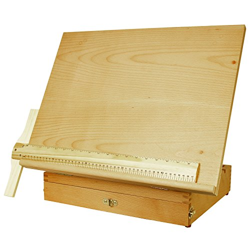 US Art Supply Adjustable Wood Artist Drawing & Sketching Board With Storage Drawer by US Art Supply