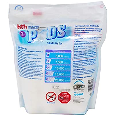 HTH 67053 Alkalinity Up Pods Balancer for Swimming Pools, 8 ct : Garden & Outdoor