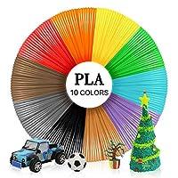 Enotepad PLA 3D Pen Mix-Color Filament,10 Colors, 16 Ft/5M Each,Total 164 Feet, 1.75mm,Vacuumed Sealed Package,Fit All 3D Pen