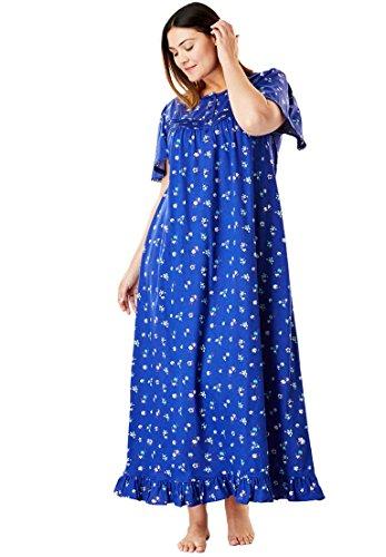 e9b0e808e45 Dreams   Co. Women s Plus Size Long Floral Print Cotton Gown ...