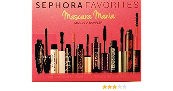 2f1a55e0f39 Amazon.com : Sephora Favorites Mascara Mania 7 piece Deluxe Mascara Sampler  ~ Limited Edition : Beauty