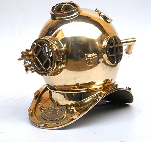 Nautical Divers Helmet Maritime Mark V Deep Diving Solid Brass Helmet by Collectibles Buy [並行輸入品]   B01AHGEUK2