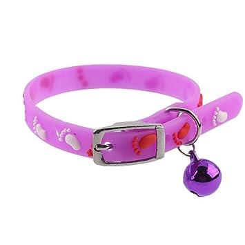 Daeou Collar de Perro Gato de Imagen Placa Base Silicona Cinta Bell Collar, 30*.01cm: Amazon.es: Productos para mascotas