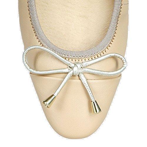 Pointed Flat MORENA Bruna Women's Beige Toe MORENA Foldable qOfX1Xp