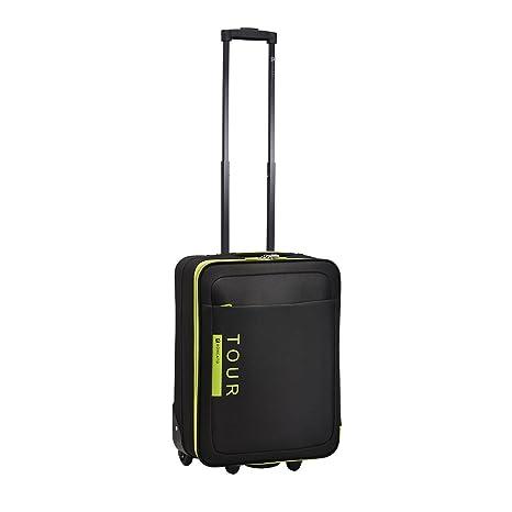 7b1bc8760 RONCATO TOUR TROLLEY CABINA RYAN AIR 55x40x20 cm. (NERO): Amazon.it ...