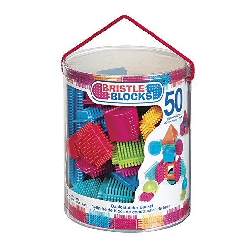 Battat 50-Piece Bristle Block Bucket
