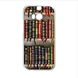 Best Seller - Personalized Bookshelf Design HTC One M8 (Laser Technology) Case, Cell Phone Cover