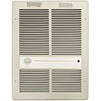 TPI HF3316T2RP Series 3310 Fan Forced Wall Heater w/o Fan Switch with 2 Pole Thermostat, Ivory, 4000/3000 W