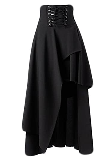 Faldas para Mujer Cintura Alta Alta Baja Vintage Gothic Lolita ...