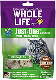 Whole Life Pet Single Ingredient USA Freeze Dried Cod Treats for Cats