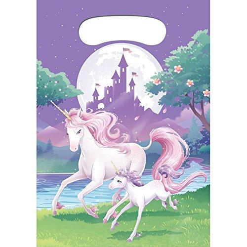 Générique 8 Sacs cadeaux Licorne magique 22 x 16 cm