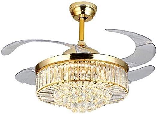 Araña de cristal reversible de 2 pulgadas, lámpara de ventilador ...