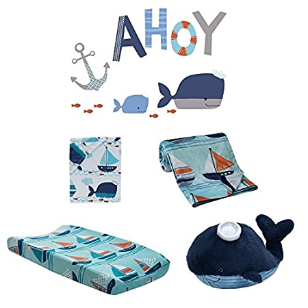 51HI9Sa24HL._SS450_ Nautical Crib Bedding and Beach Crib Bedding