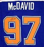 Connor McDavid Signed Autographed Edmonton Oilers #97 Blue Custom Jersey