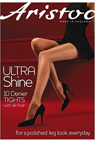 Aristoc Women's Ultra Shine 10 Denier Sheer to Waist Pantyhose medium (5'4''-5'7'' 162-170cm, hip 38-42'' 96-107cm) black by Aristoc