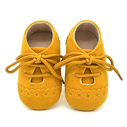 (Dukars Baby Boys Girls Soft Sole Moccasins Lace-up Infant Toddler Shoes Sneaker)