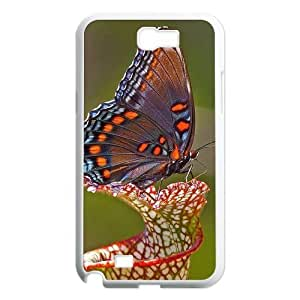 Butterfly Customized Cover Case for Samsung Galaxy Note 2 N7100,custom phone case ygtg522882