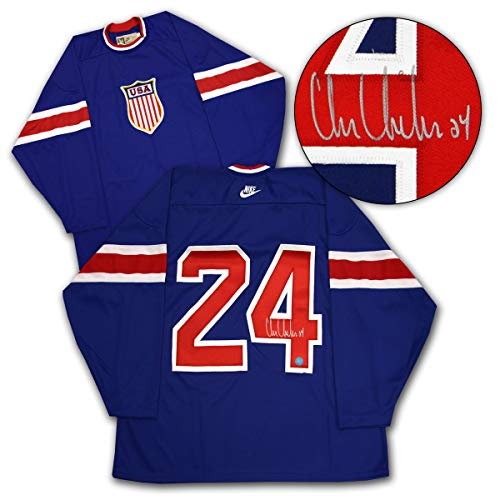 - Chris Chelios USA Hockey Autographed 2004 World Cup Retro Hockey Jersey