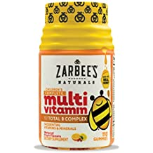 Zarbee's Naturals Children's Complete Multivitamin Gummies with our Total B Complex and Essential Vitamins, Natural Fruit Flavors, 110 Gummies