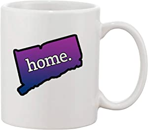 Ceramic Coffee Mug - Home Outline Flag Colors US State United States (Connecticut)