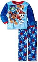 Nickelodeon Toddler Boys' Paw Patrol Luxe Plush 2-Piece Pajama Set,  On/the/Go Blue