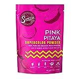 Suncore Foods – Premium Pink Pitaya Supercolor Powder, 5oz - Natural Red Dragon Fruit Food Colouring Powder, Plant Based, Vegan, Gluten Free, Non-GMO
