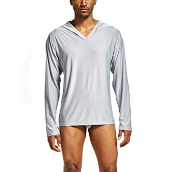a44d5680772e72 Image Unavailable. Image not available for. Color  KFSO Men s Fashion Solid Home  Clothes ...