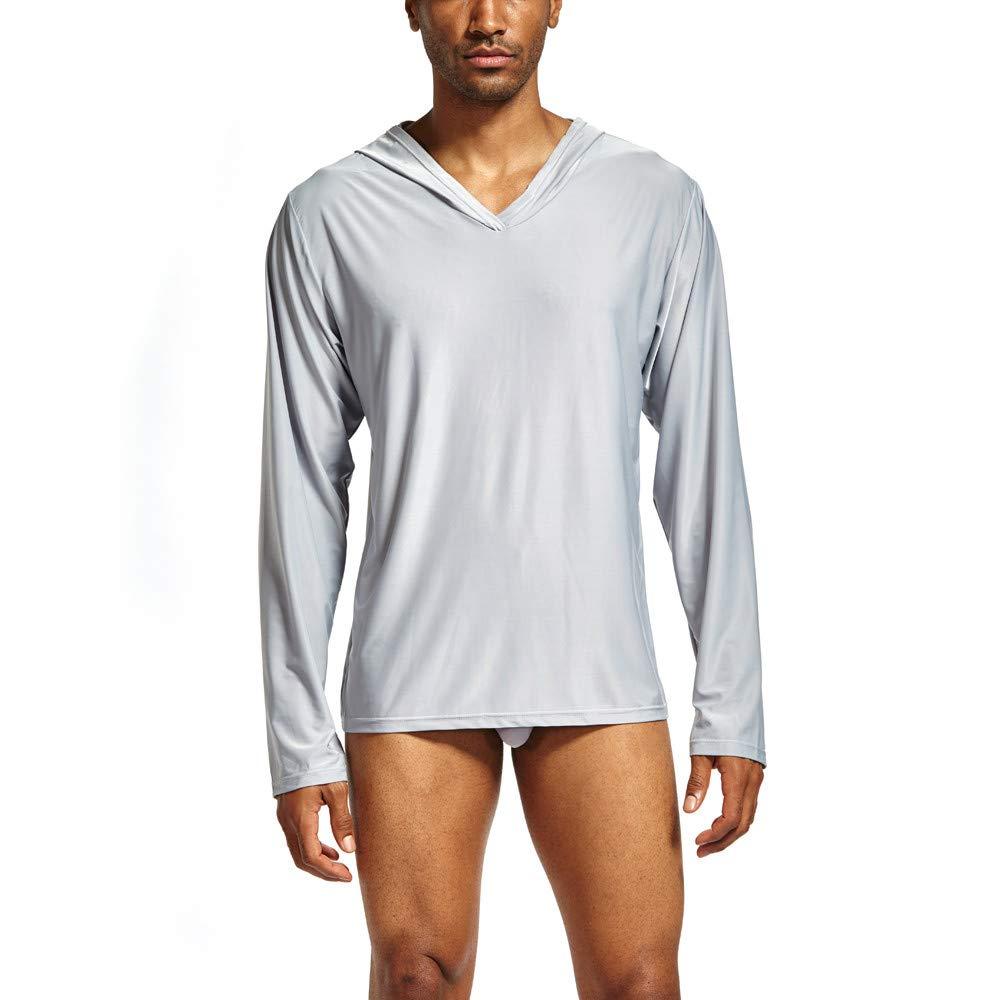YpingLonk Camiseta Hombre Inicio Yoga Color Sólido Casual Clásico ...