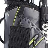 Izzo Ultra Lite Cart Bag - Grey/Lime