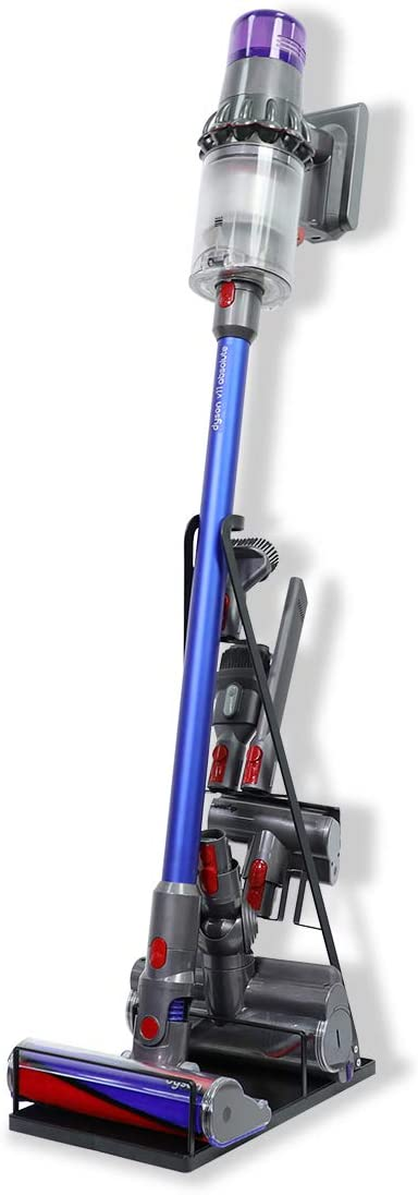 LANMU Docking Station Floor Stand Accessory Holder for Dyson V11 V10 V8 V7 V6 Vacuum Cleaner, Attachment Tool Holder, No More Messy Tools (Black)