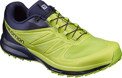 Salomon Sense Pro 2, Zapatillas de Trail Running para Hombre Azul (Navy Blazer/Lime Punch./Lime Green)