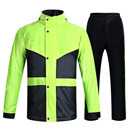 DXJNI Chaqueta Impermeable y Impermeable para Hombres ...