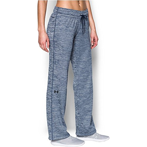 Under Armour Women's Storm Armour Fleece Twist Lightweight Pant, Blackout Navy/Blackout Navy, X-Large