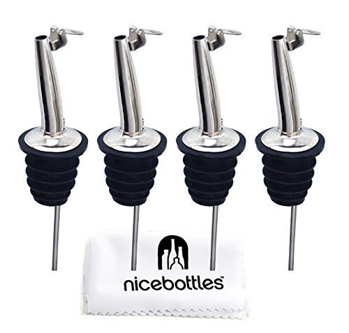 Perfect Pour: Tapered & Hinged Flip Top Pourer, Pack of 4