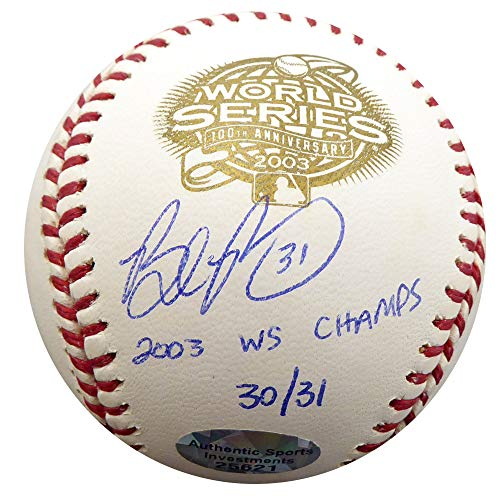 Brad Penny Signed Auto 2003 World Series Baseball Florida Marlins 2003 WS Champs #30/31 - Beckett Authentic