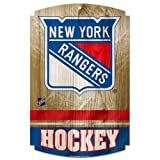 WinCraft NHL New York Rangers 73413091 Wood Sign, 11'' x 17'', Black