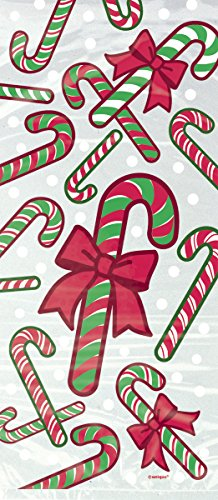 (Candy Cane Holiday Cellophane Bags, 20ct )