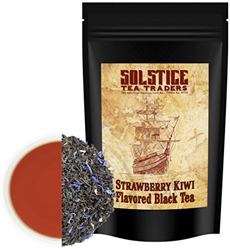 Strawberry Kiwi Loose Leaf Black Tea (8-Ounce Bulk Bag), Makes 150+ Cups of Fruit Tea