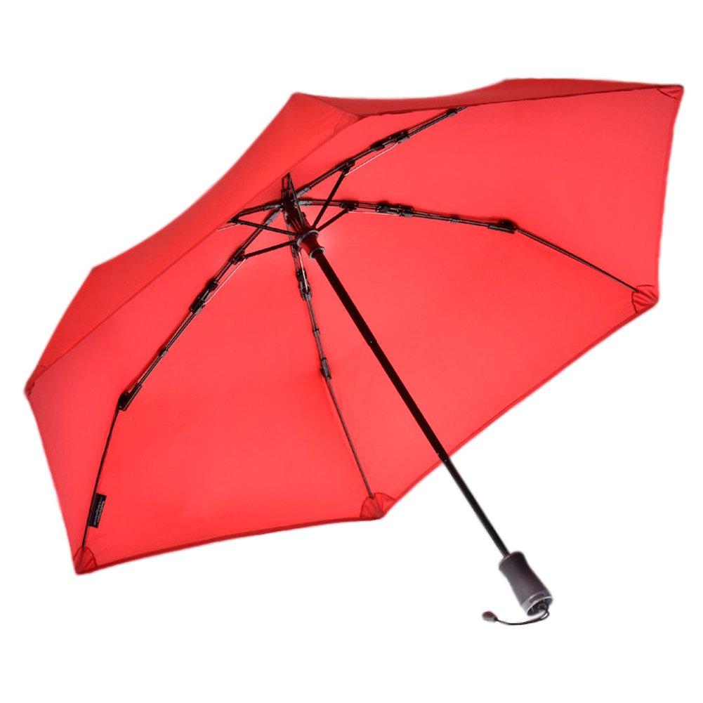 Hedgehog Windproof Umbrella, Scarlet Red