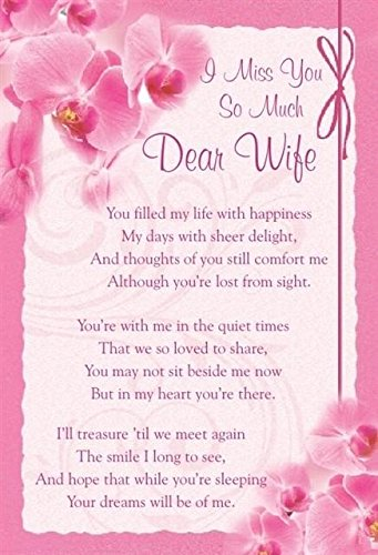 Loving Memory Graveside Memorial Card 625 X 425 Miss You So