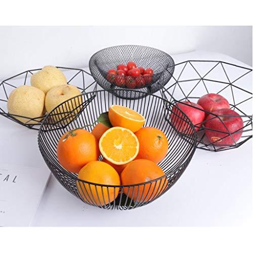 Metal Fruit Basket Bowl Food Serving Bowl Biscuit Snack Unique Tray 10x6inch ()