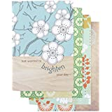 DaySpring Thinking of You Greeting Card with Embossed White Envelopes, 12 Count, Joyful Thoughts (74876)