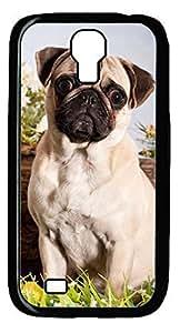 Amazed Perky Pug DIY Hard Shell Black Best Designed Samsung Galaxy S4 I9500 Case