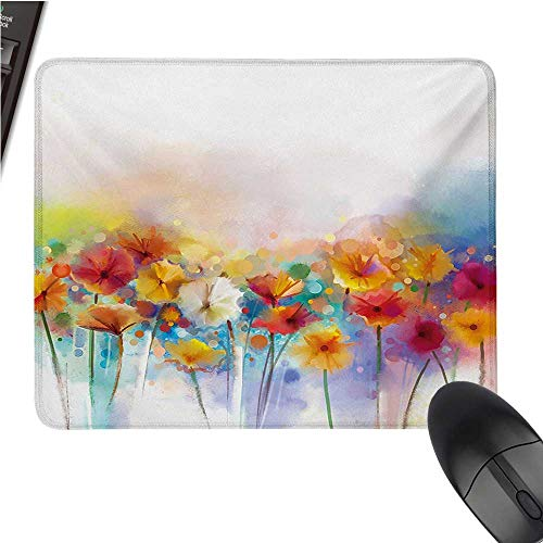 - Flowerlarge Mouse padGerbera Bouquet Textured in an Artisan Expression Inflorescence Morph New PaintComfortable Mousepad 9.8