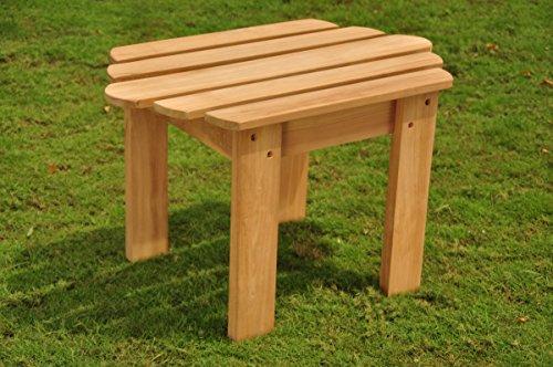 TeakStation Grade-A Teak Wood Adirondack Side Table / End Stool #TSAXSTAD