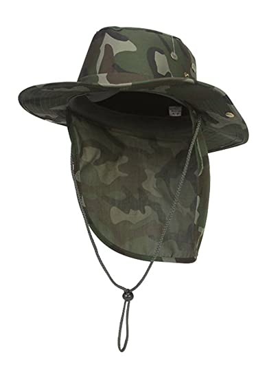 TOP HEADWEAR Safari Explorer Bucket Hat With Flap Neck Cover Camoflauge 927cc055a508