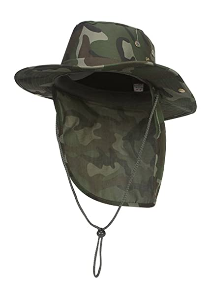 eb9c798a TOP HEADWEAR Safari Explorer Bucket Hat With Flap Neck Cover Camoflauge,  Small
