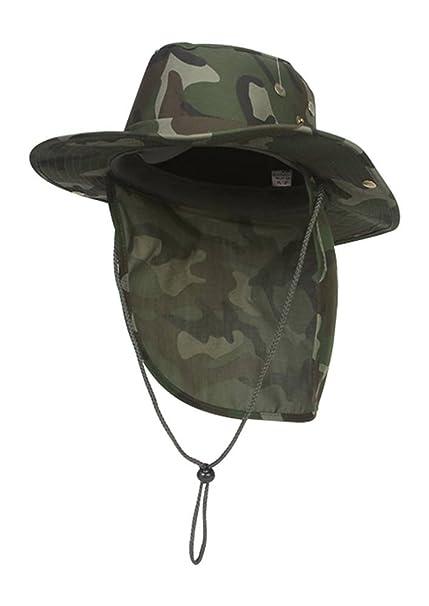 1ccfeb01bec TOP HEADWEAR Safari Explorer Bucket Hat With Flap Neck Cover Camoflauge